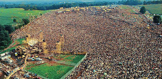 Woodstock from above